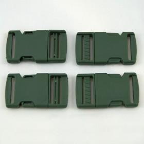 Gurtband - Steckschließer Grün 25 mm breit. Kaufeinheit: 1 Stück