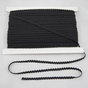Posamentenborte schwarz glänzend 7 mm breit