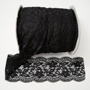 Bild 1 Elastische Spitze Schwarz 10 cm breit Nr. 156