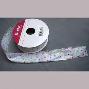 Bild 1 Dekoband Romantik glitzernd mit Drahtkante 35 mm breit