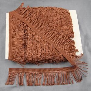 Bild 1 Fransenborte Drellierfranse Braun 60 mm breit