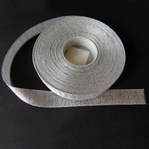 Bild 1 Lurexborte Silber 20 mm breit