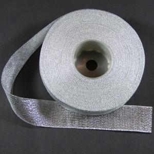 Bild 1 Lurexborte Silber 25 mm breit