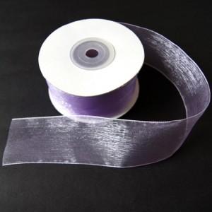 Bild 1 Organzaband Lavendel 40 mm breit