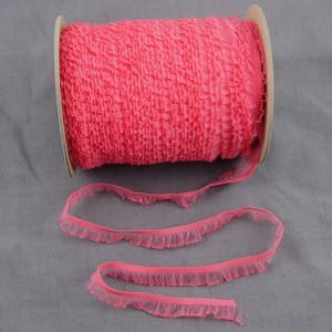 Bild 1 Rüschenband Pink elastisch dehnbar 18 mm breit