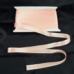 Bild 1 Schrägband Satin Lachsrosa gefälzt 15 mm breit