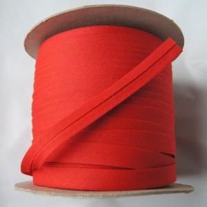 Bild 1 Schrägband Baumwolle Rot gefälzt 13 mm breit