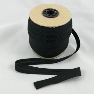 Bild 1 Schrägband Baumwolle Schwarz gefälzt 15 mm breit