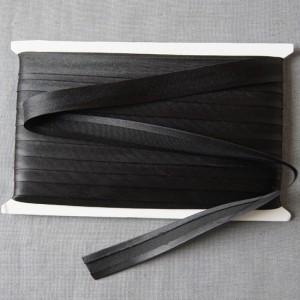 Bild 1 Schrägband Satin Schwarz gefälzt 15 mm breit