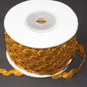 Bild 1 Zick Zack Borte Gold 9 mm breit