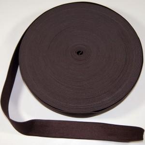Bild 1 Gummiband Dunkelbraun 25 mm breit