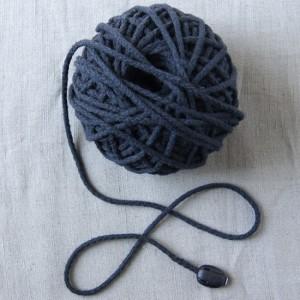 Bild 1 Kordel Baumwolle Dunkelblau 3 mm