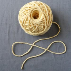 Bild 1 Kordel Baumwolle Gelb. Durchmesser 3 mm