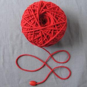 Bild 1 Kordel Baumwolle Rot. Durchmesser 3 mm
