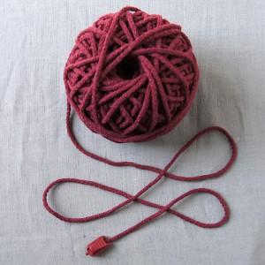 Bild 1 Kordel Baumwolle Weinrot. Durchmesser 3 mm