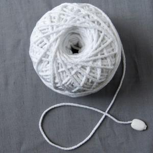 Bild 1 Kordel Baumwolle Weiss. Durchmesser 3 mm