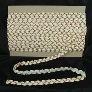 Bild 1 Posamentenborte Gold Weiss glitzernd 15 mm breit