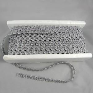 Bild 1 Posamentenborte Silber glitzernd 12 mm breit