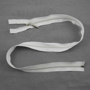 Bild 1 Reißverschluss 80 cm lang Weiß
