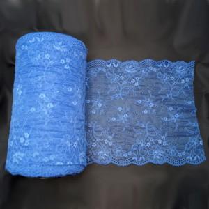 Bild 1 Elastische Spitze Royalblau 24 cm breit Nr. 158