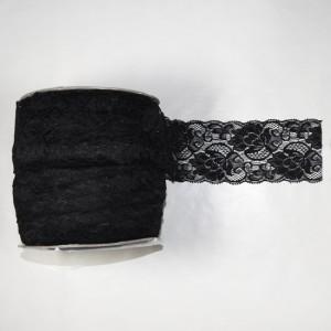 Bild 1 Elastische Spitze Schwarz 8 cm breit Nr. 64