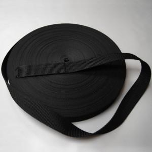 Bild 1 Gurtband Taschengurt Schwarz 25 mm breit
