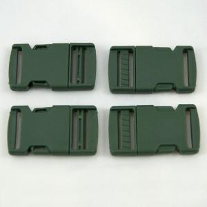 Bild 1 Gurtband - Steckschließer Grün 25 mm breit