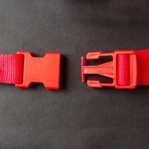 Bild 1 Gurtband - Steckschließer Rot 25 mm breit