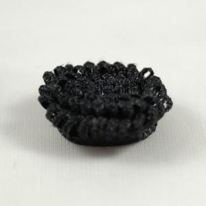 Bild 1 Stoffblumen Aufnäher Schwarz 14 mm